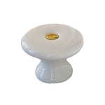 Porcelain Pull Knob w/ Brass Screw