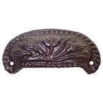 Drawer & Bin Pull, Ornamental Cast Iron Style A