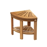 Teak Corner Bench with Storage