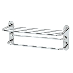 Spa Towel Shelf with Double Towel Bar - Large
