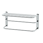 Spa Towel Shelf with Double Towel Bar - Small