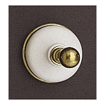 Sacramento Porcelain & Brass Robe Hook