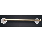 Fluted Porcelain and Brass Towel Bar