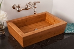 Solid Bamboo Rectangular Sink