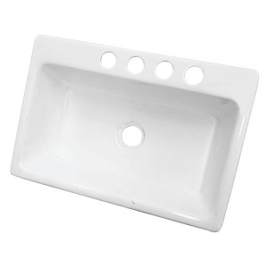 White Single Bowl Kitchen Sink.33 Inch White Single Bowl Undermount Kitchen Sink