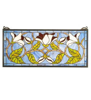 High Magnolia Stained Glass Window