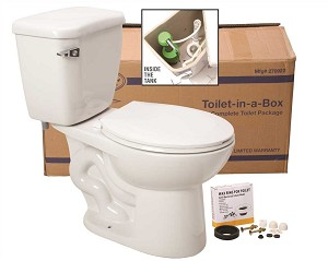 Complete Toilet-in-a-Box with Round Bowl