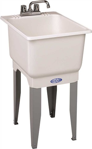 15-GALLON FLOOR-MOUNT COMBO LAUNDRY/UTILITY TUB w/ FAUCET