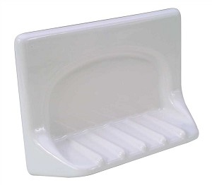GROUT-IN CERAMIC BATHTUB SOAP DISH