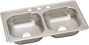 33-inch Double Bowl Stainless Steel  Kitchen Sink