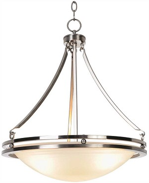 3-Light Contemporary Pendant Fixture in Brushed Nickel