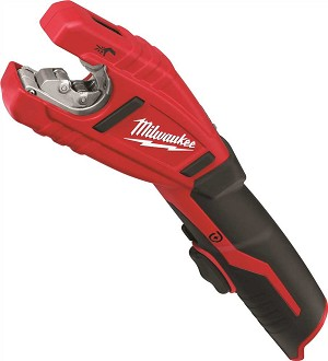 Milwaukee Cordless 12-Volt Lithium-Ion Copper Tube Cutter with one BATTERY, Battery, Charger and Case