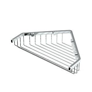 Shower Single Level Corner Wire Shelf - Large