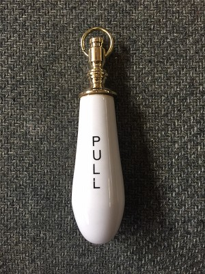 "Deluxe Porcelain High Tank ""PULL"" Handle"