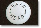 Volume Control Handle Porcelain Button - RAIN HEAD Text