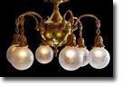 SOLD! Original Globe Chandelier, 6 Light