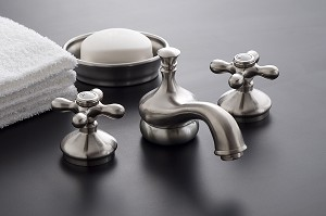 Sacramento Widespread Lavatory Faucet  with Brass Cross-point Handles