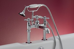 Mississippi British Telephone Deck Mount Leg Tub Faucet, Handheld Shower