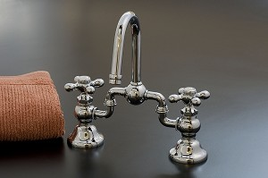 Adjustable Bridge Lavatory Faucet , Crosspoint Handles