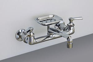 Wall Mount Deco Kitchen Faucet w/ Soap Dish