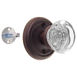 Round Glass Dummy Door Knobs (Pair)