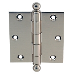 Ball Tip Door Hinge Pair - 3-1/2-inch by 3-1/2 inch