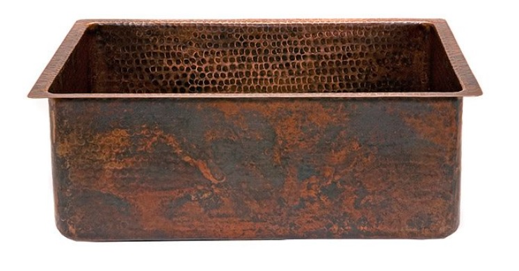 Copper Single Basin Kitchen Sinks