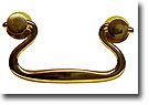 Swan Neck Drawer Pull, Contoured Flat Handle