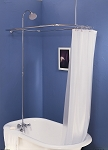 Shower Enclosure Set w/ Porcelain Lever Faucet
