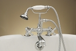 Deck Mount British Telephone Leg Tub Faucet