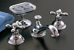 St. Lawrence Widespread Lavatory Faucet, 4-Spoke Handles