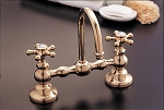 Columbia Lavatory Bridge Faucet Set, Gooseneck Spout, 8 or 12 inch Centers