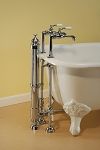 High Flow Single Faucet Pair with Porcelain Lever Handles