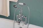 Thermostatic Deck Mount British Telephone Leg Tub Faucet with Handheld Shower