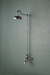 Wall MountThermostatic Shower Set with Tub Filler/Toe Tester