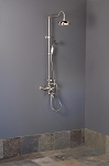Thermostatic Wall Mount Shower with Handheld Shower and Tub Fill
