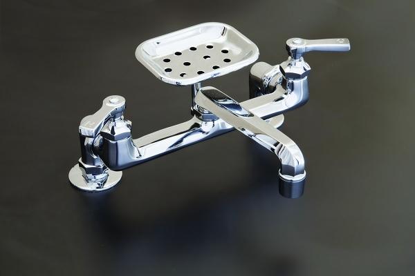 Deck Mount Deco Kitchen Faucet W Soap Dish