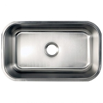 28-inch Stainless Steel Undermount Single Bowl Kitchen Sink