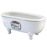 Savon Superfins 8″ Double Ended Clawfoot Bath Tub Decorative Soap Dish