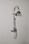 Thermostatic Exposed Gooseneck Shower Set with Handheld Shower