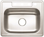 Stainless Steel 4-Hole Single Bowl Kitchen Sink (22-Gauge)