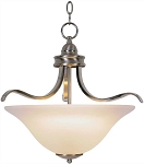 3-Light 17-1/2 inch Pendant in Brushed Nickel
