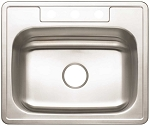 Stainless Steel 3-Hole Single Bowl Kitchen Sink (22-Gauge)