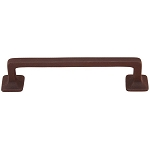 Mission Style Solid Brass Bar Handle - 4 Inch