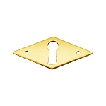 Keyhole Cover Plate Escutcheon, Diamond Mission Style
