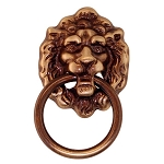 Ring Pull - Victorian Ornamental Lion Head Drawer/Cabinet