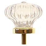 Glass Colonial Fluted Clear Knob