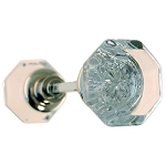Glass Octagonal Doorknob Set
