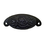 Drawer & Bin Pull, Ornamental Cast Iron Style B