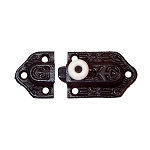 Black Cast Iron Cabinet Latch with Porcelain Knob
